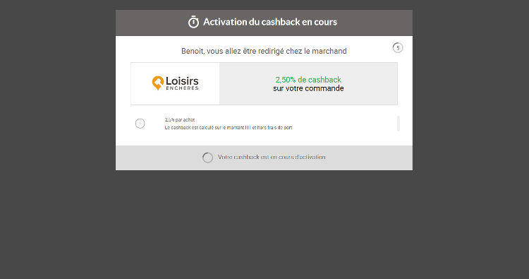 IGraal avis site activation cashback