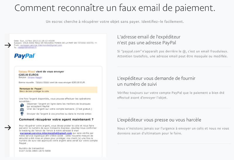 arnaque le bon coin faux email PayPal