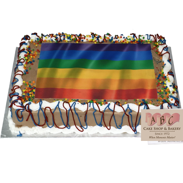 1885 Choclate Sheet Cake With Rainbow Colors Abc Cake