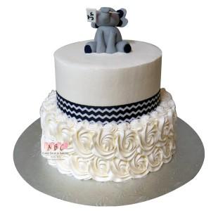 2250 2 Tier Elephant Baby Shower Cake Abc Cake Shop