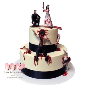 2253 2 Tier Wedding Cake With Burlap Fruit