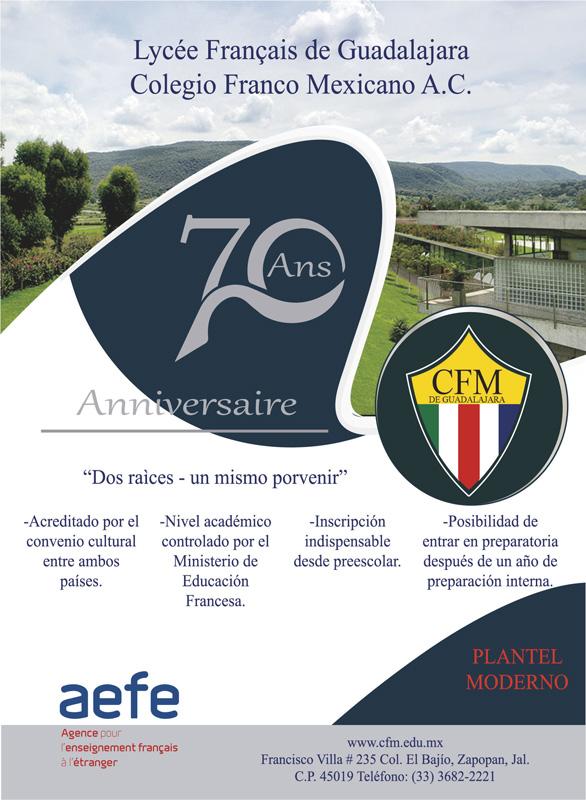 Anuncio Colegio Franco edición de enero