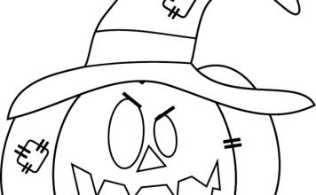Mascara de halloween para o dia das bruxas-bruxa - abóbora