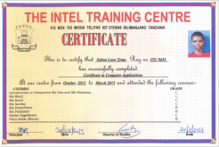 Selina-certificate