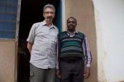 Frank with Nduweni PS Head Teacher Mr. Lekule