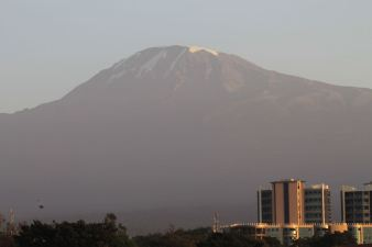 Mt. Kili from hotel