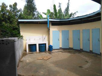 Makomu SS girls' toilets