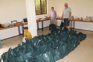 donation bags ready