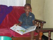 little David at Sebastian's house