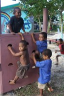 Playground at Lavena Pre-school, Taveuni Island, Fiji