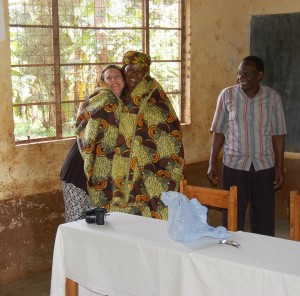 Mrtha, Bibi Honoured with Kitenge at L.S. Primary