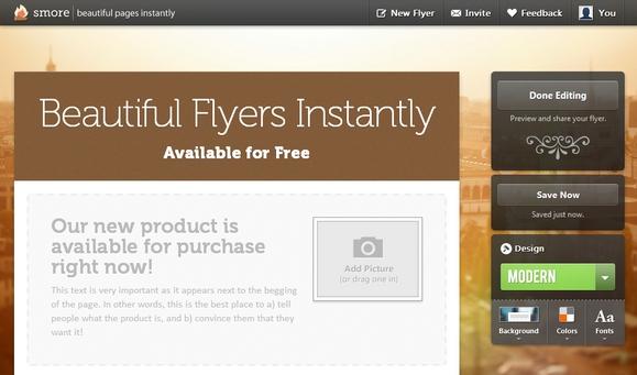 Startup Monday: Smore, Design Online Flyers