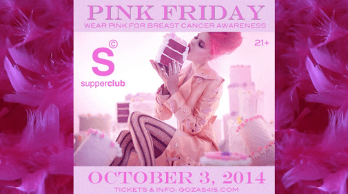 Pink Friday, Weekend Lineup