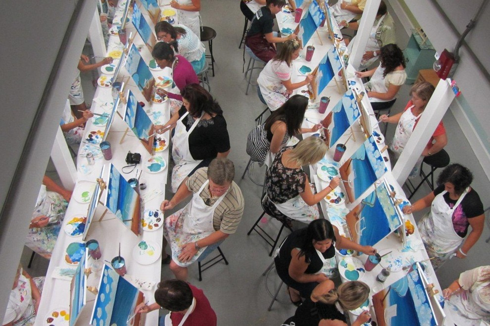 Corporate events san francisco top 10 team building for Painting with a twist san diego