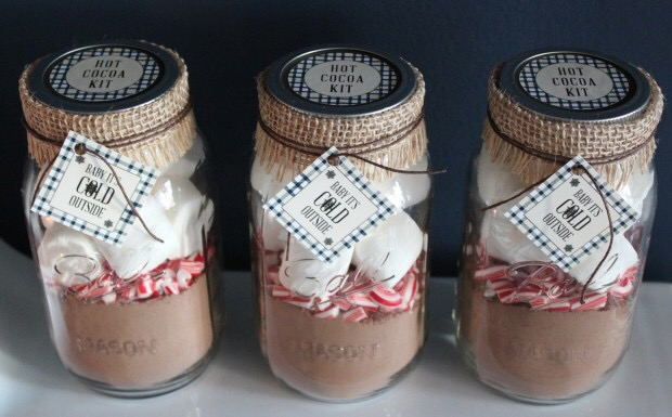 diy hot chocolate jar