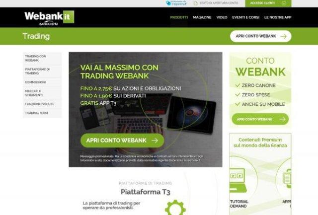 WeBank Piattaforma Trading