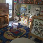 The infant/toddler room is fun, safe and cozy.