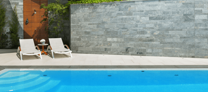 remove calcium deposits from pool
