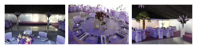 Wedding marquee interior with ice theme
