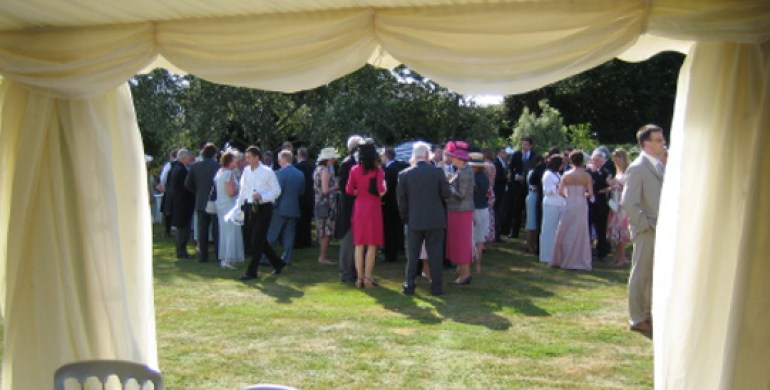 Marquee linings in ivory