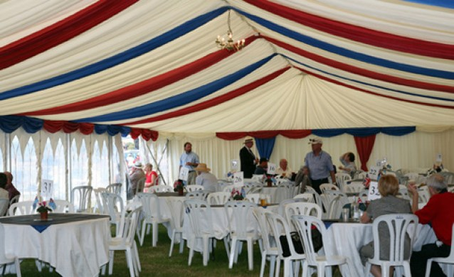Marquee Linings in Corporate Colours
