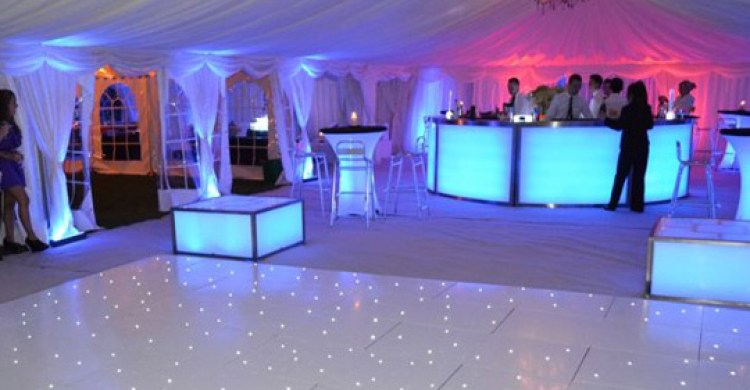 White Theme Marquee, UV Lighting