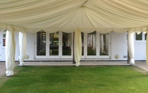 Garden party marquee linings