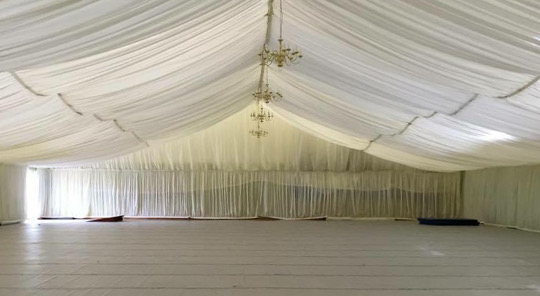 Sports Hall Transformed by Marquee Linings