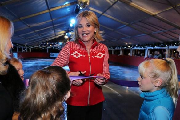 Anthea Turner at Windsor On Ice 2016