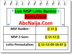 Live msp lotto banker