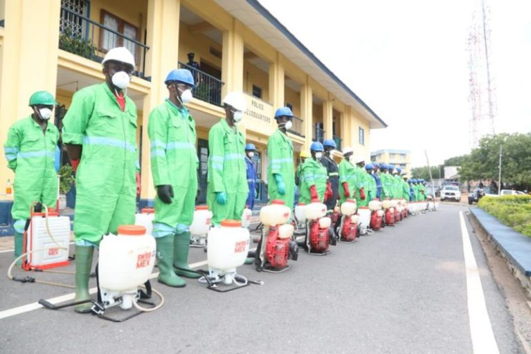 Zoomlion begins disinfection exercise of 115 police stations in Western Region