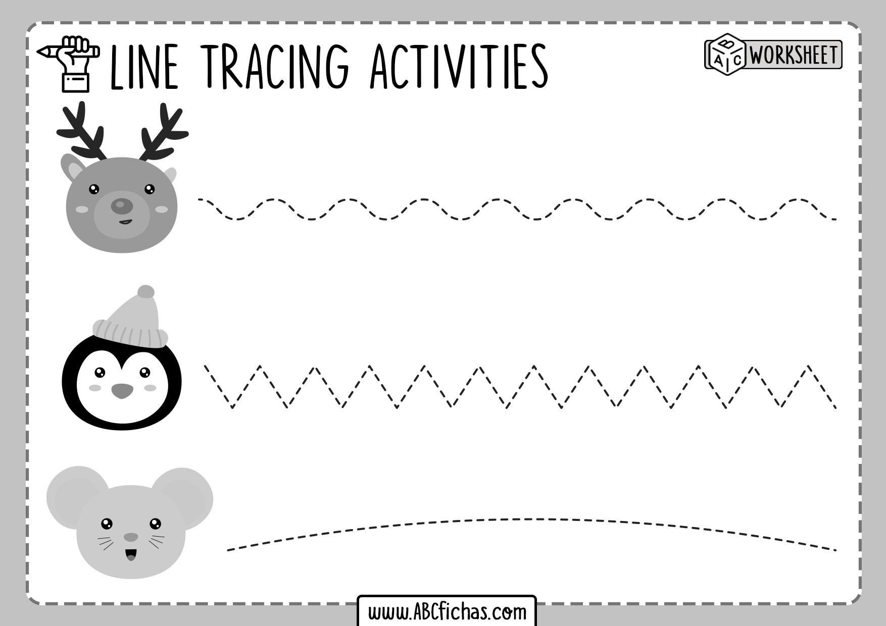 Line Tracing Prewriting Worksheet