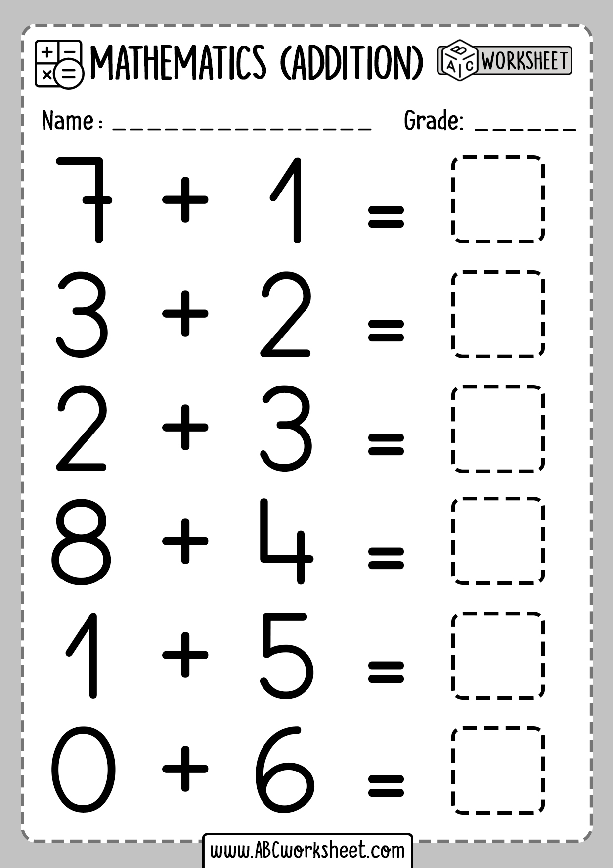 Math Addition Activities For First Grade