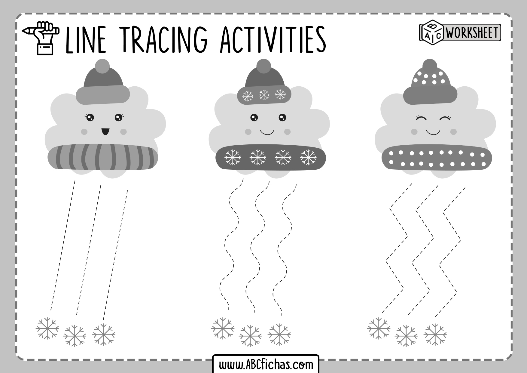 Printable Tracing Horizontal Lines Worksheets