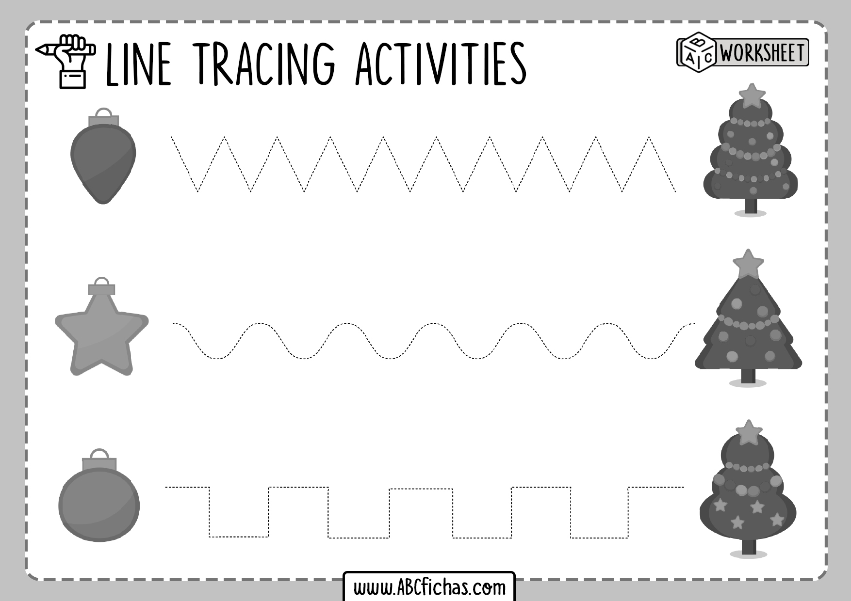 Tracing Horizontal Lines Preschool