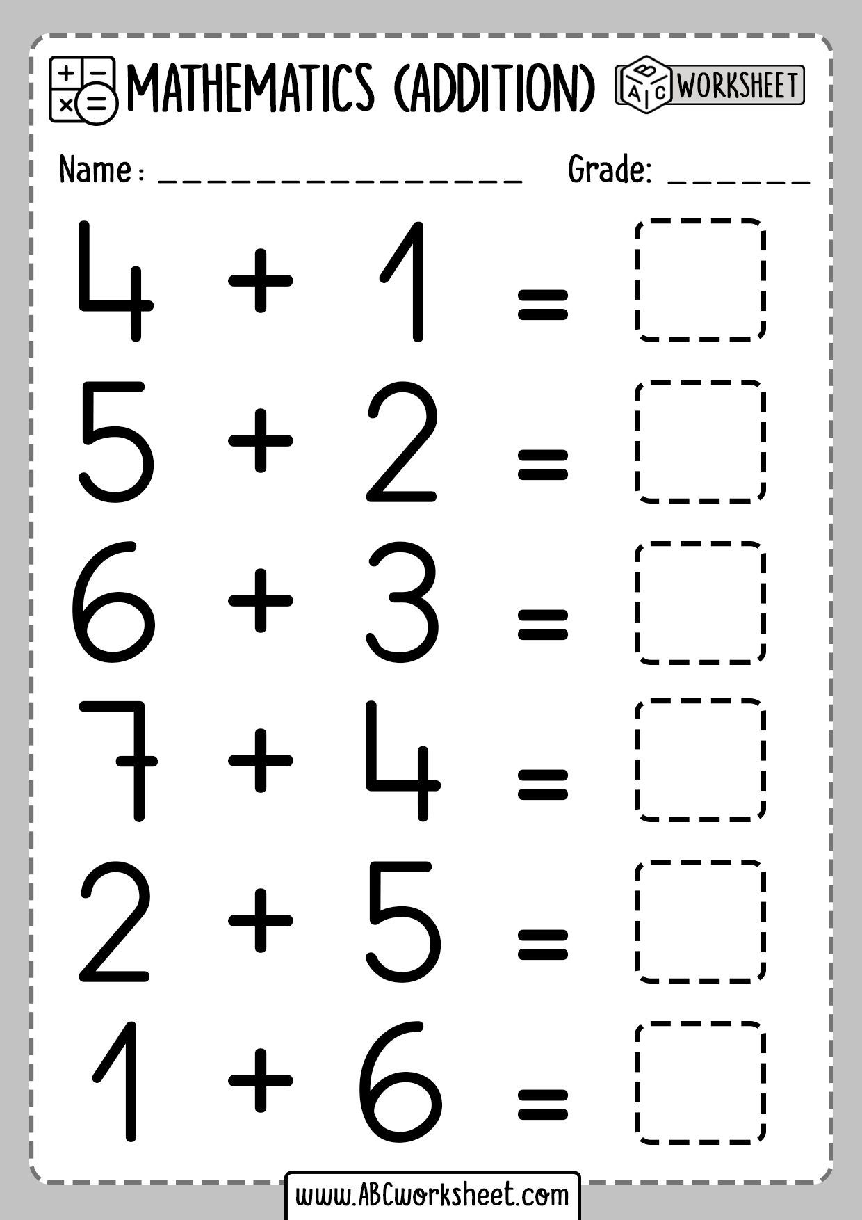 Addition Activities For First Grade Worksheets