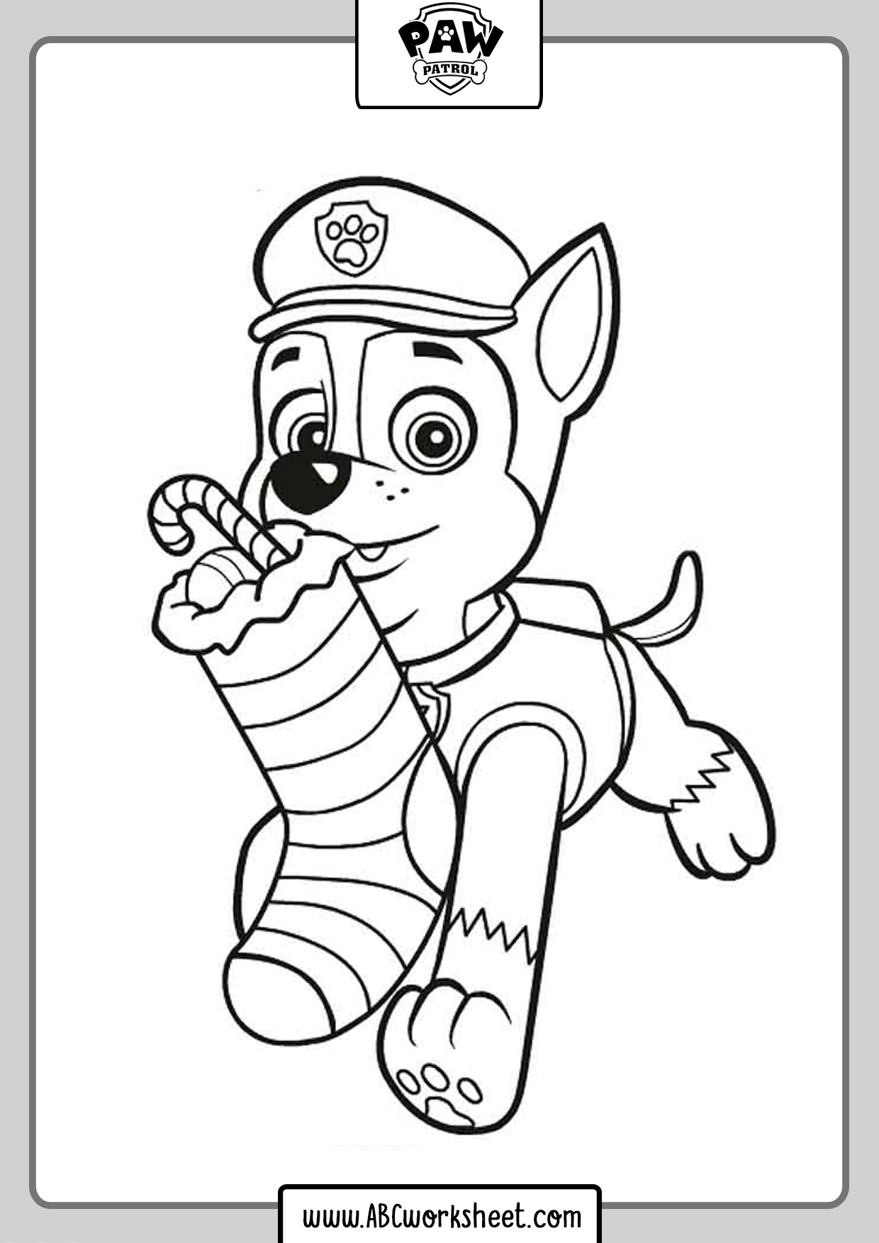Chase Paw Patrol Drawings For Coloring