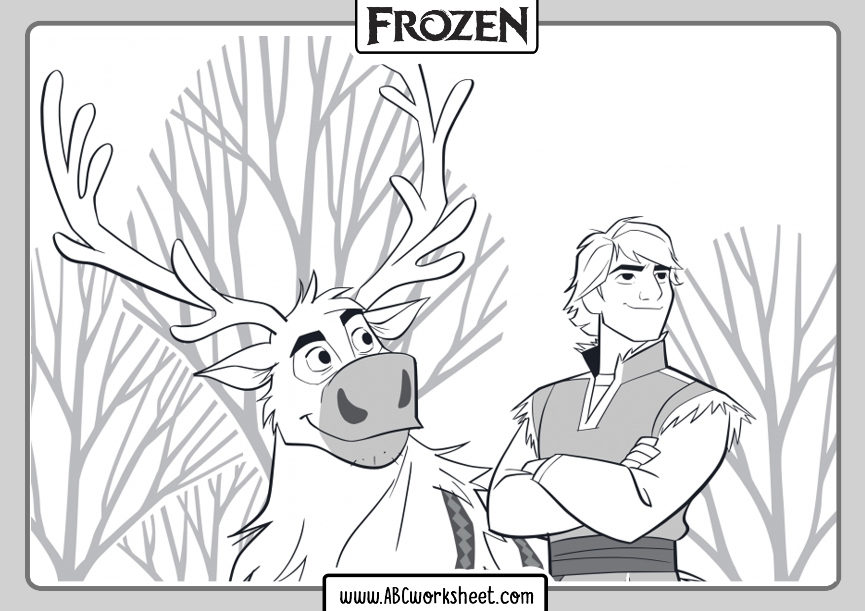 Coloring Sheets Frozen 2