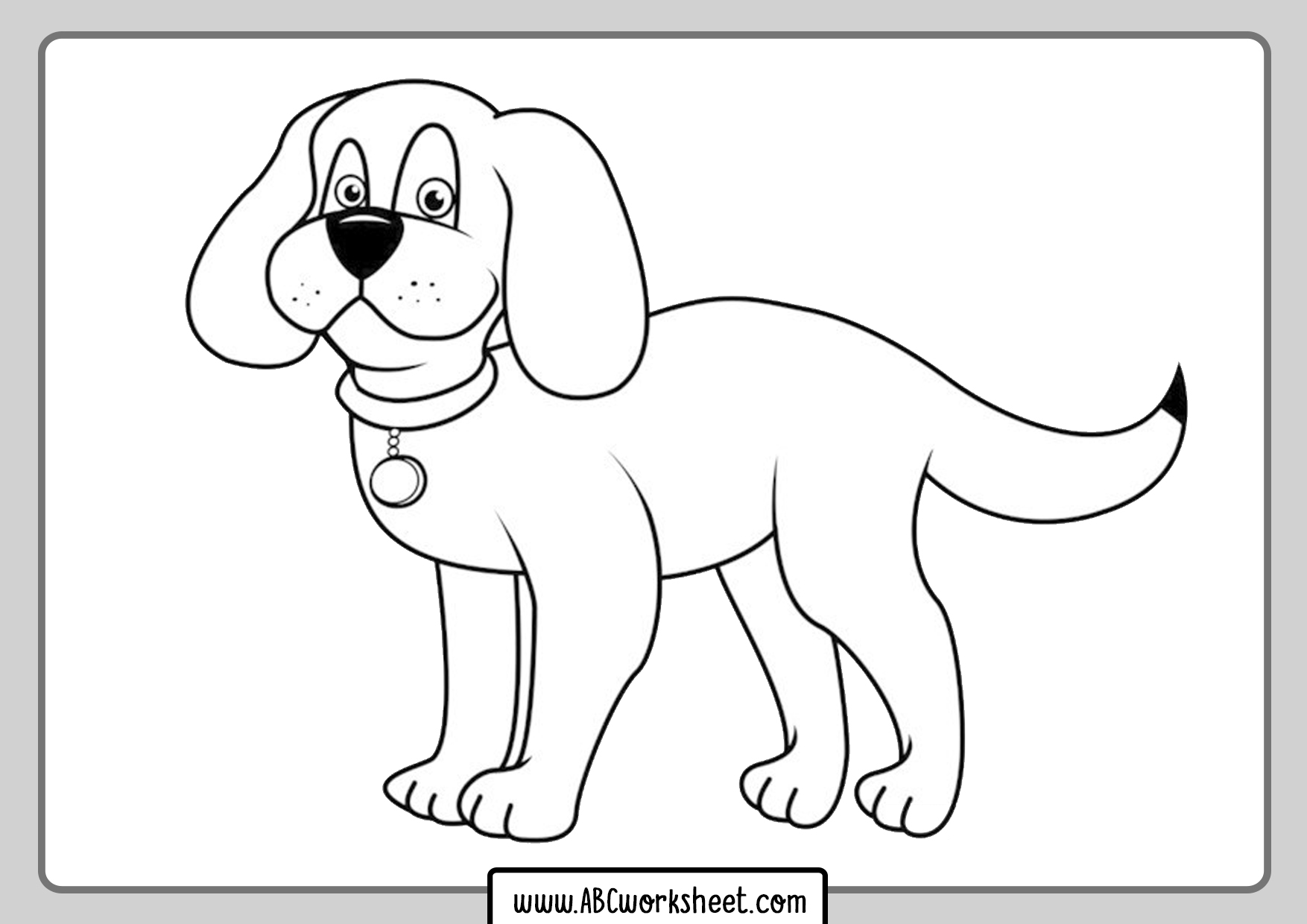 Coloring Pages Of Dogs To Print