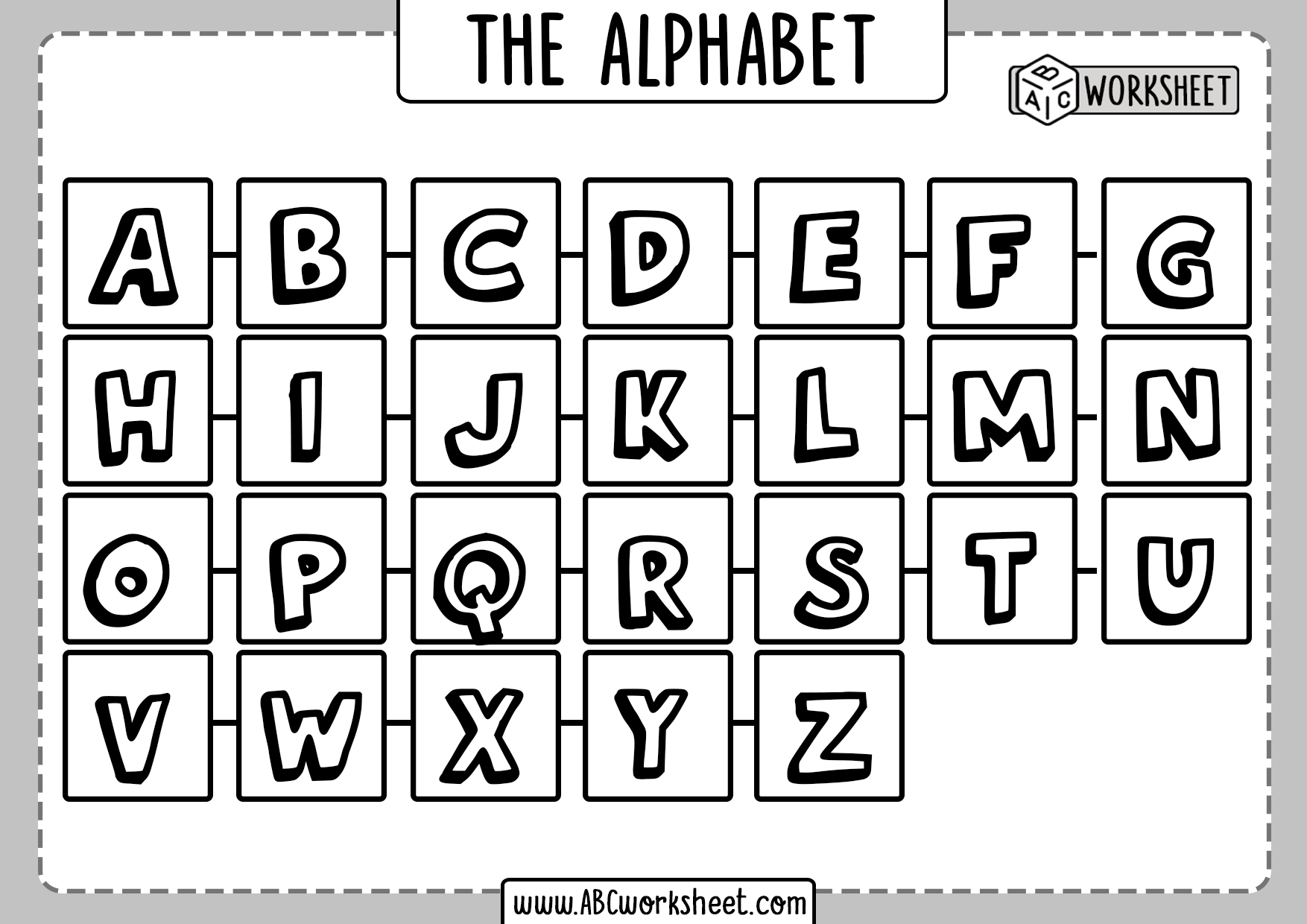 Complete Alphabet Letters For Printing
