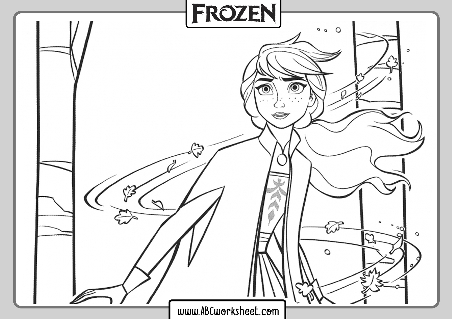 Frozen 2 Printable Coloring Pages for Kids