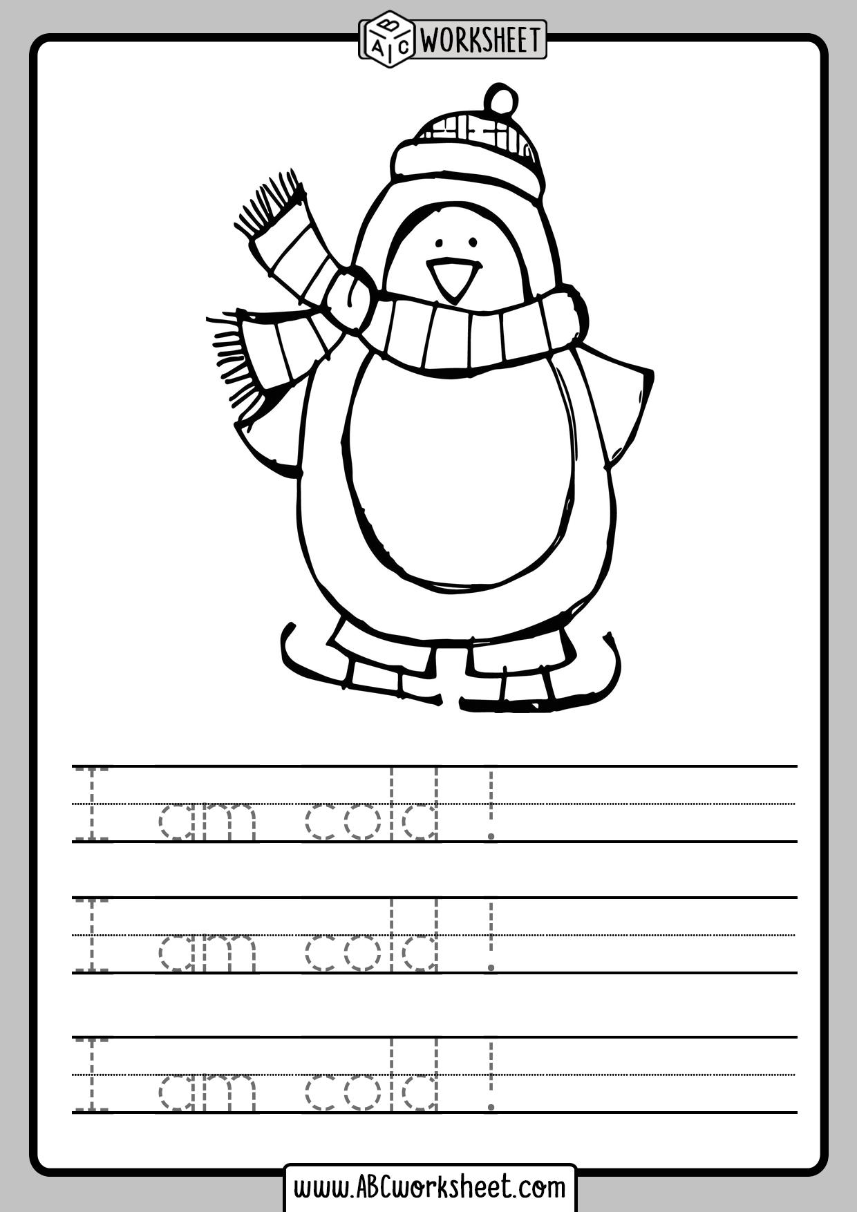 Handwriting Writing Worksheets For Kindergarten