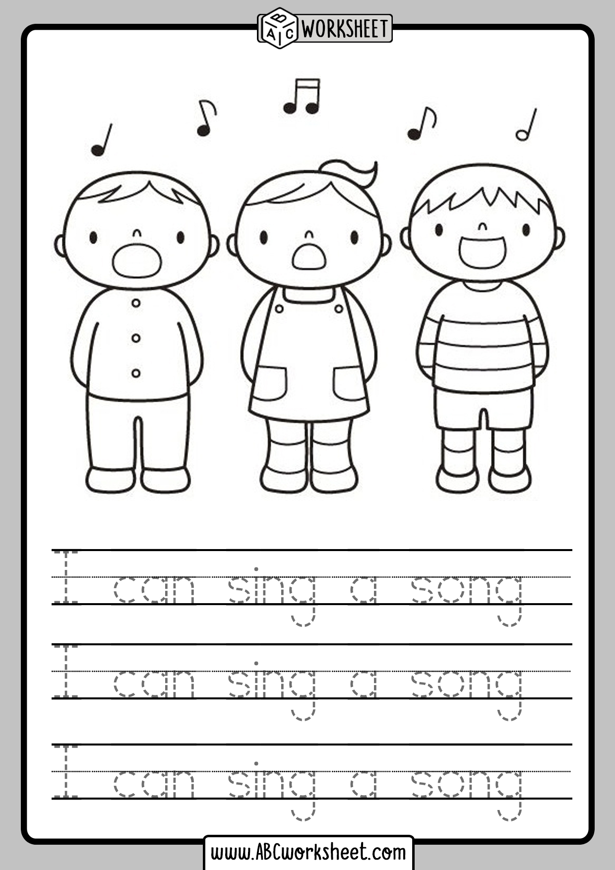 Kindergarten Read And Trace