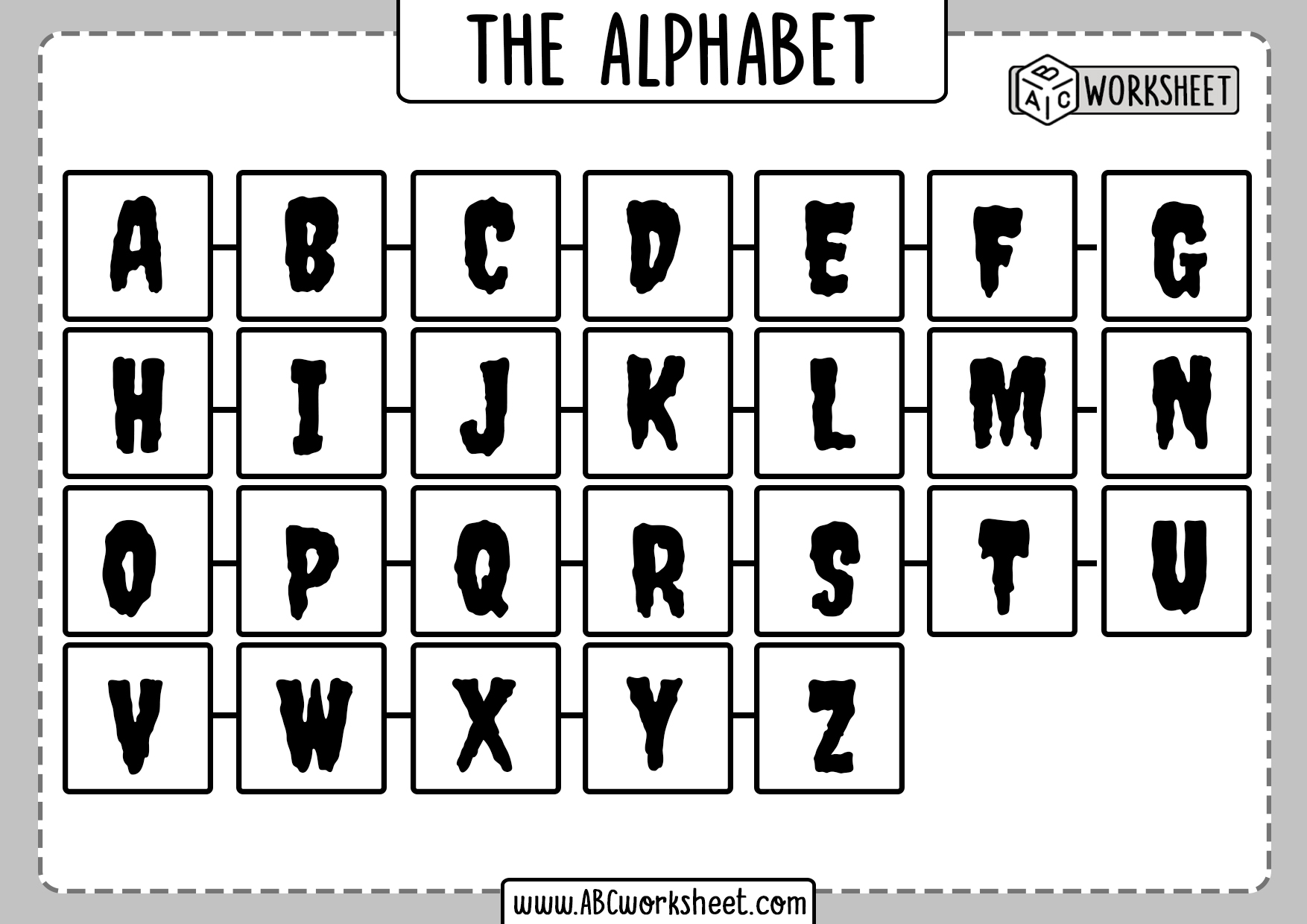 Full Alphabet Letter Identification Worksheets
