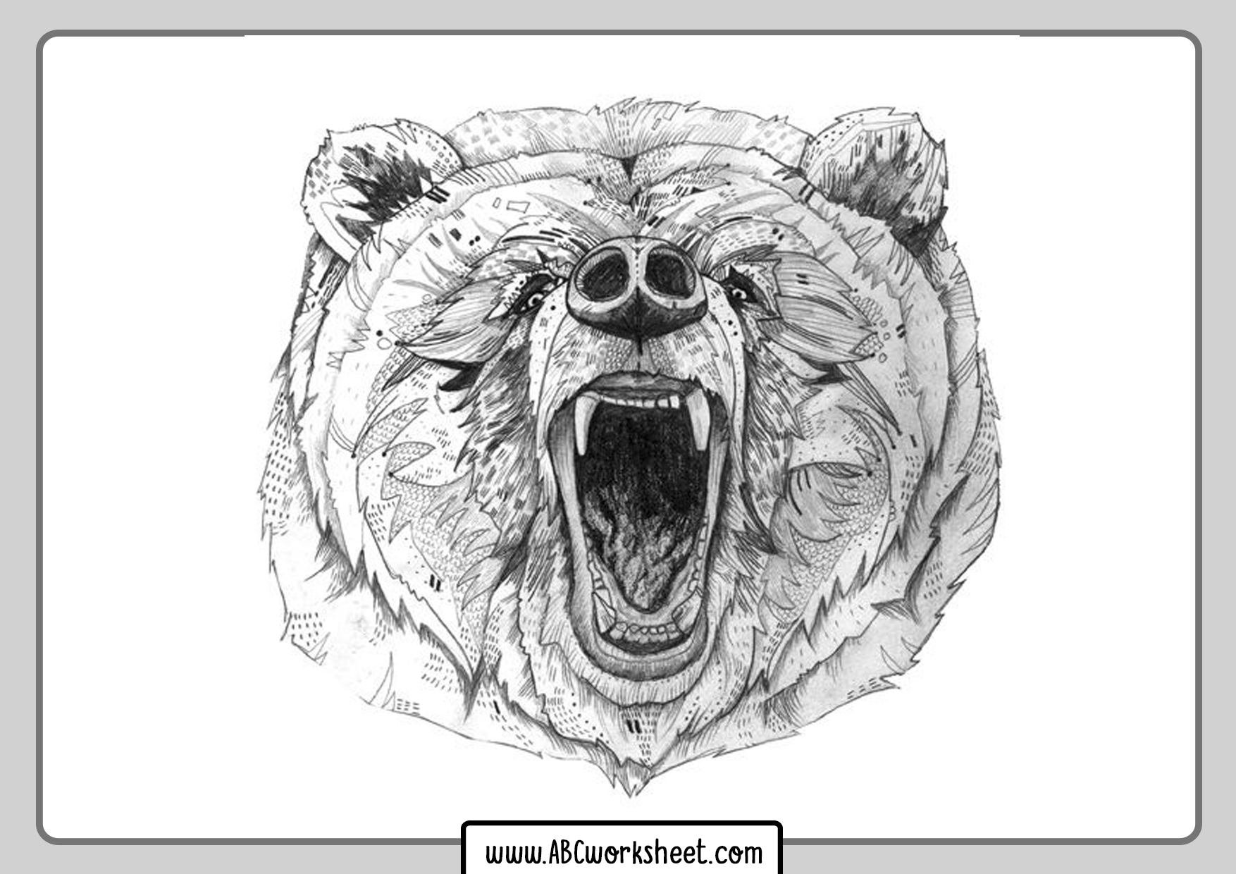 Mandala Grizzly Bear Coloring Pages