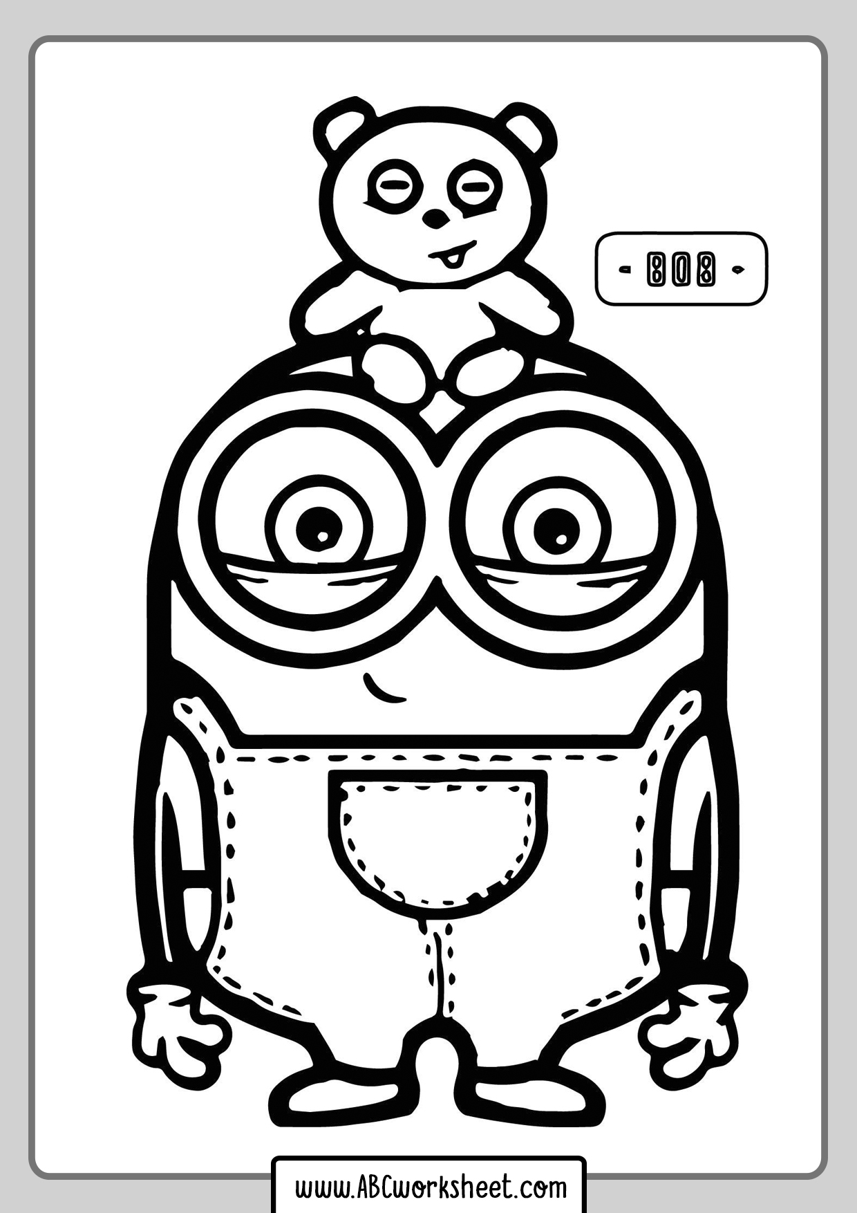 Minions Coloring Book For Kids