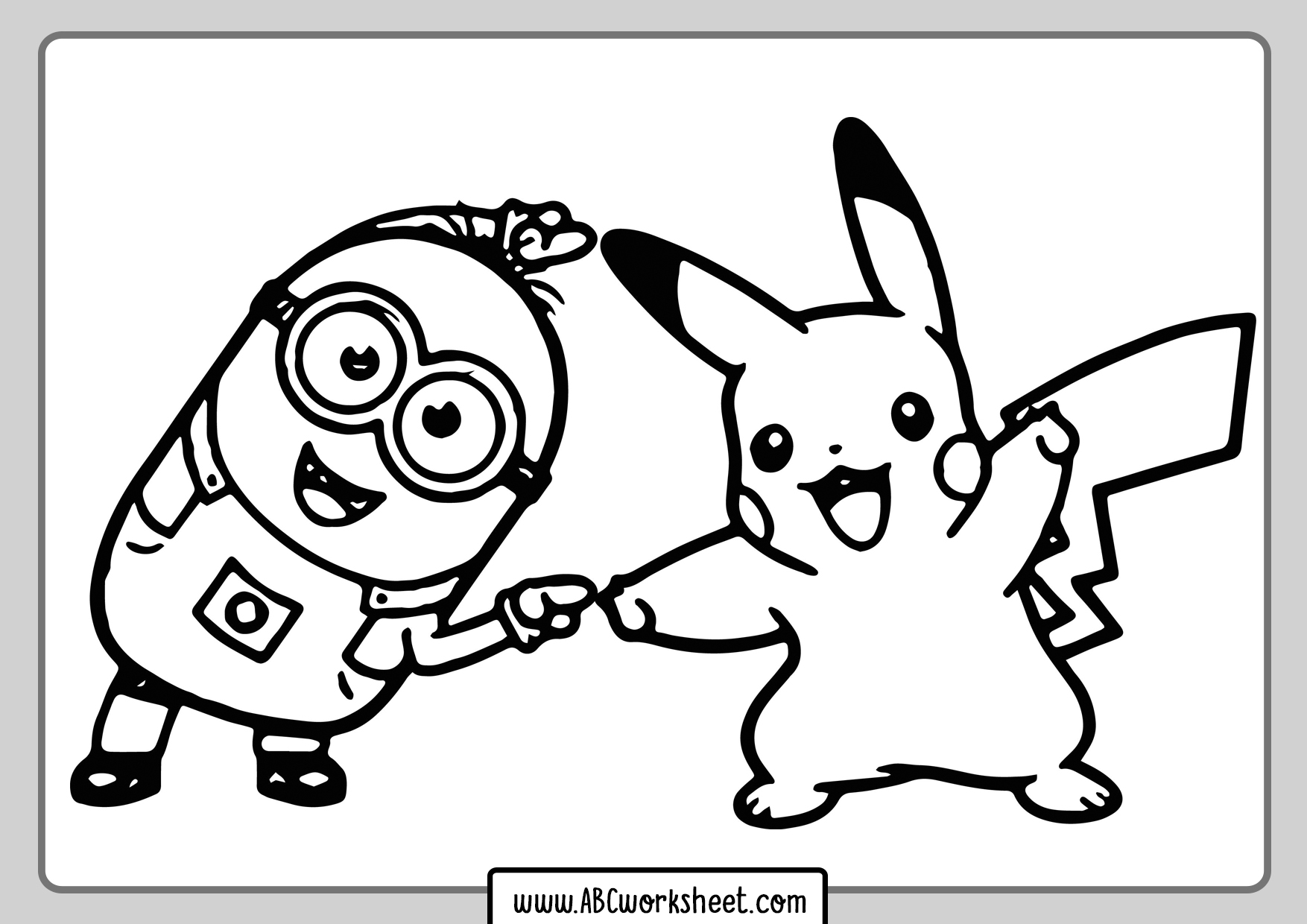 Minions Coloring Pages - ABC Worksheet
