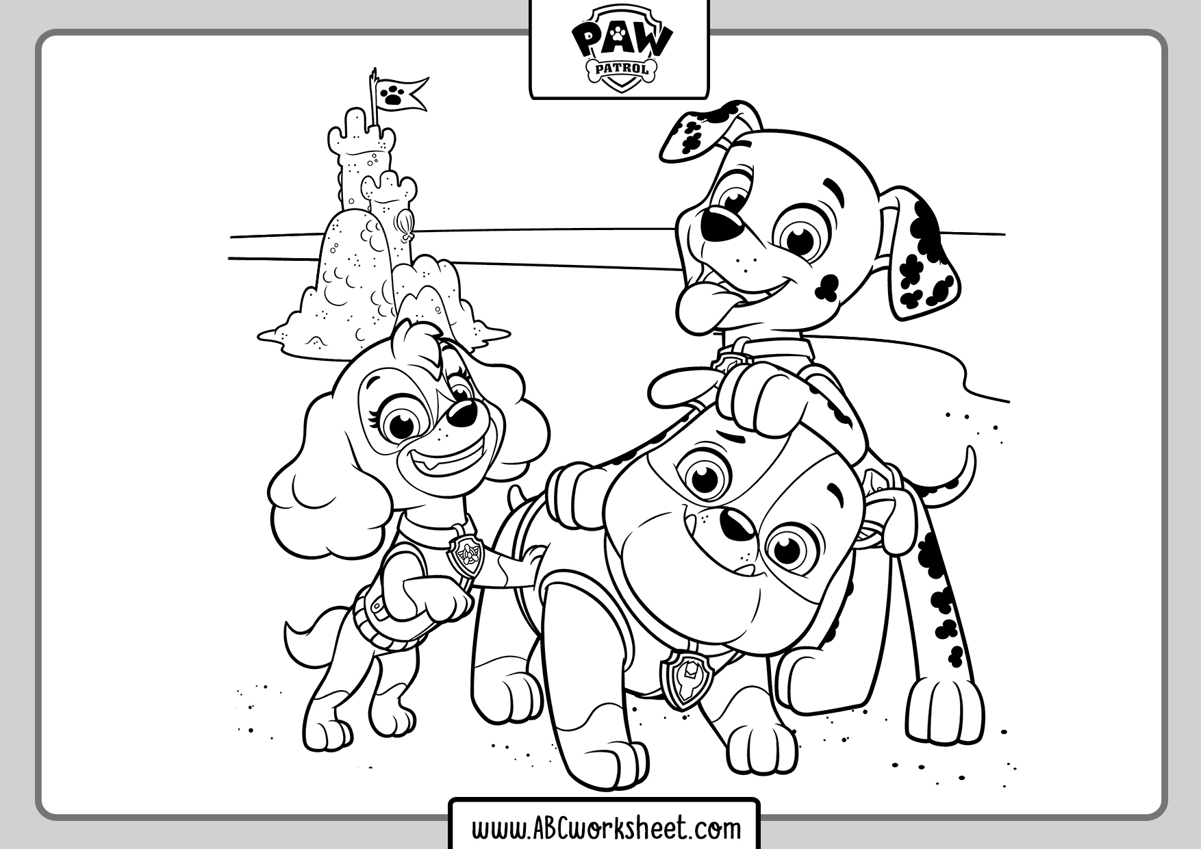Paw Patrol Coloring Pages Free Ptrintable