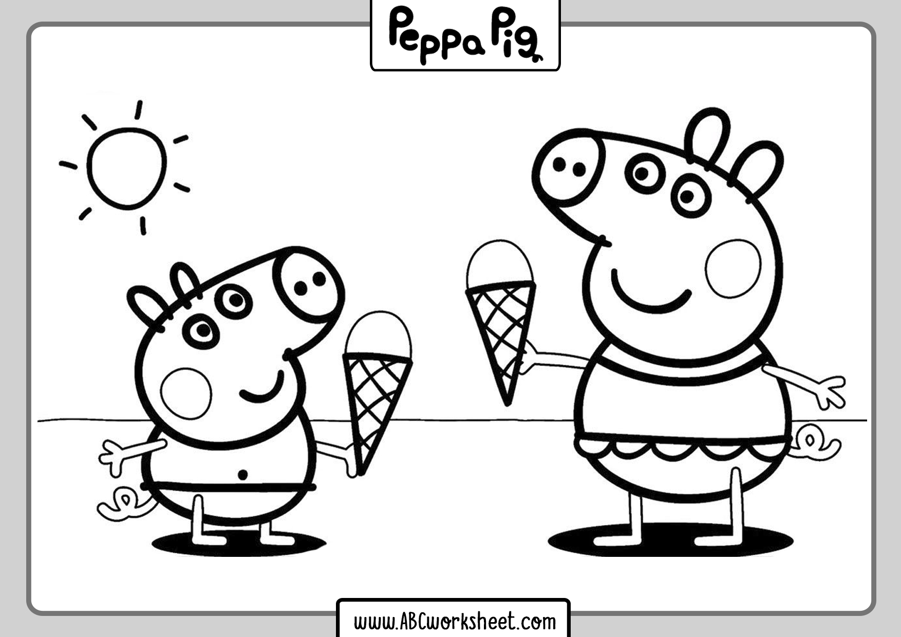 Peppa Pig Drawings For Coloring