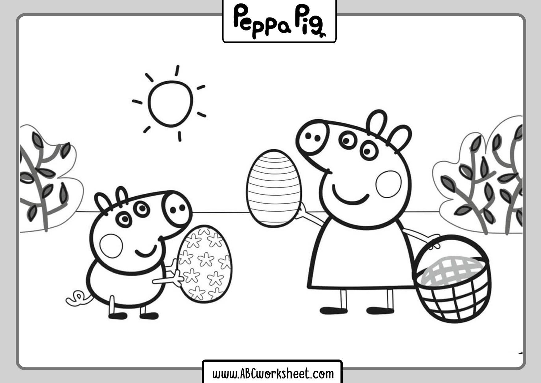 Printable Peppa Pig Coloring Sheets